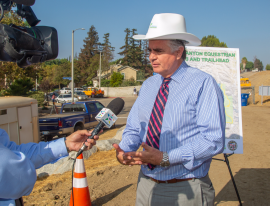 PG - Lopez Canyon Trail Head Project Press Conference - 10